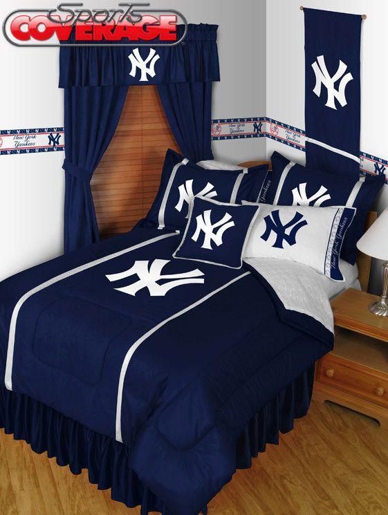 New York Yankees 4-Piece Twin, Full, Queen, King Bedding ...