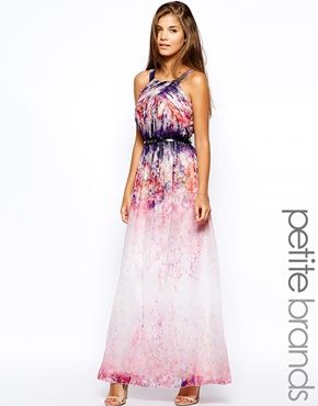 Little Mistress Petite Watercolour Print Maxi Dress | Rachel's ...