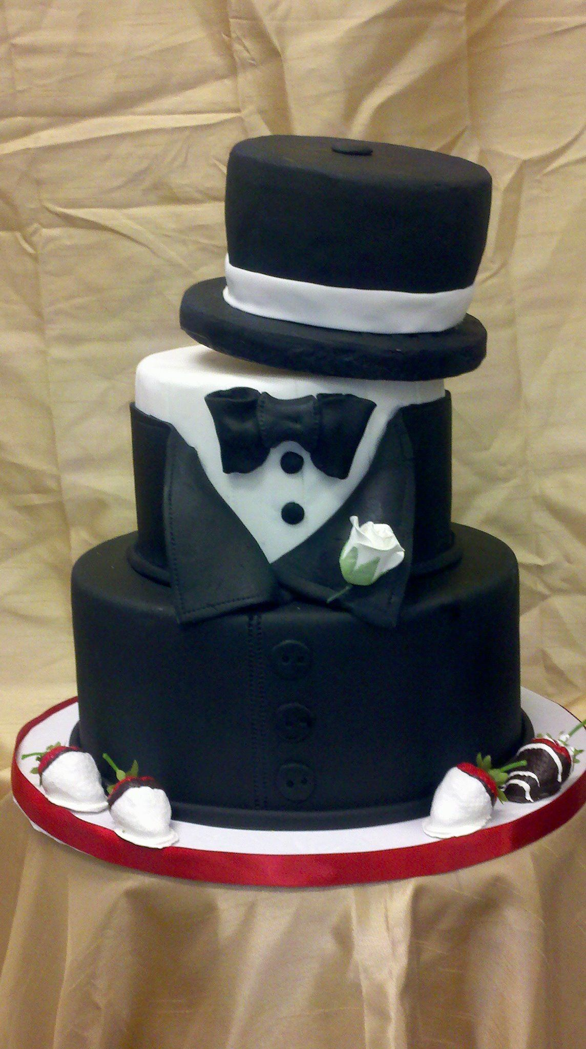 Tuxedo Top Hat Cake My Cakes Pinterest Hat Cake