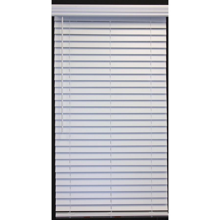 Shop allen + roth White Faux Wood 2in Slat Room Darkening