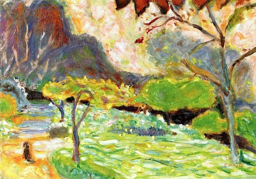 Pierre Bonnard -- Landscape with dog