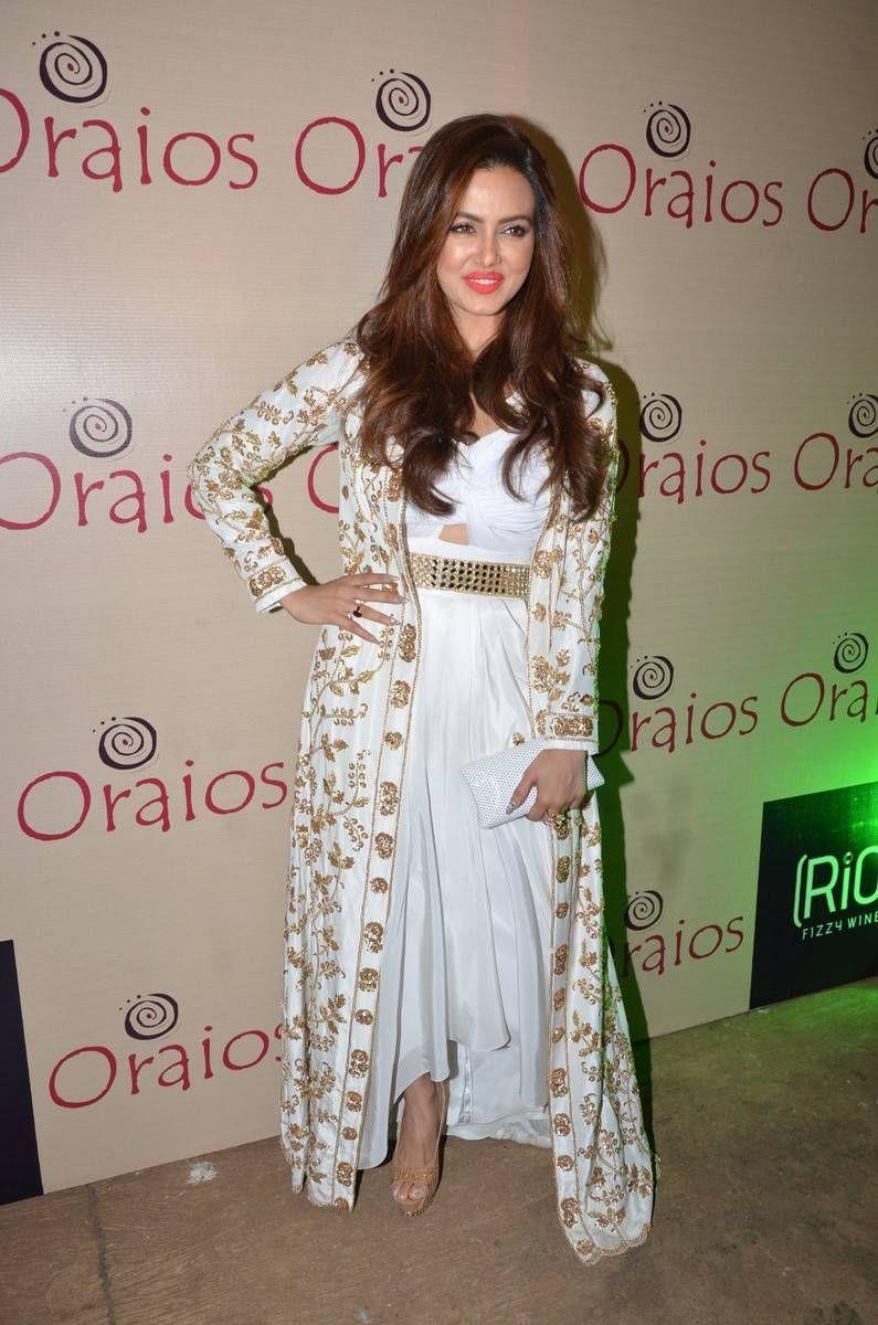 Sana Khan Latest Hot Glamourous White Dress PhotoShoot
