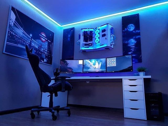 50 Video Game Room Ideas to Maximize Your Gaming Experience #gamingdesk