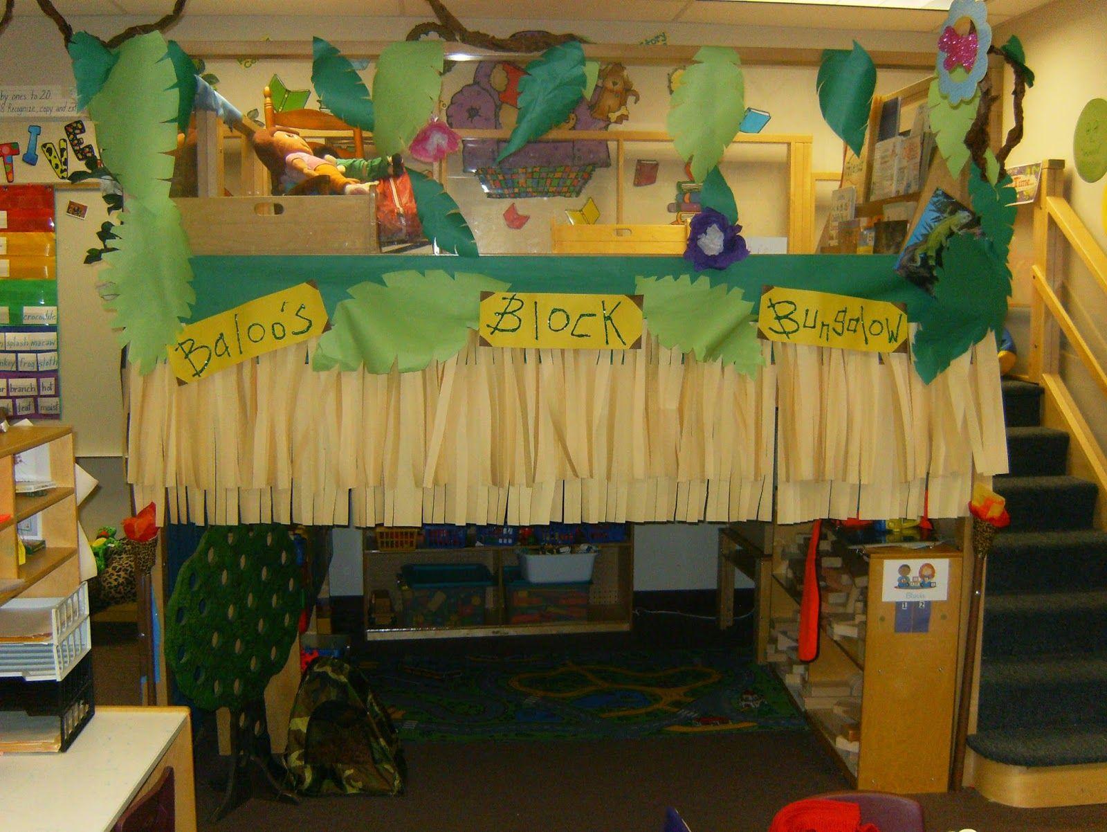 Jungle Decoration Baloos Block Bunglow Block Center Preschool Decoration Jungle