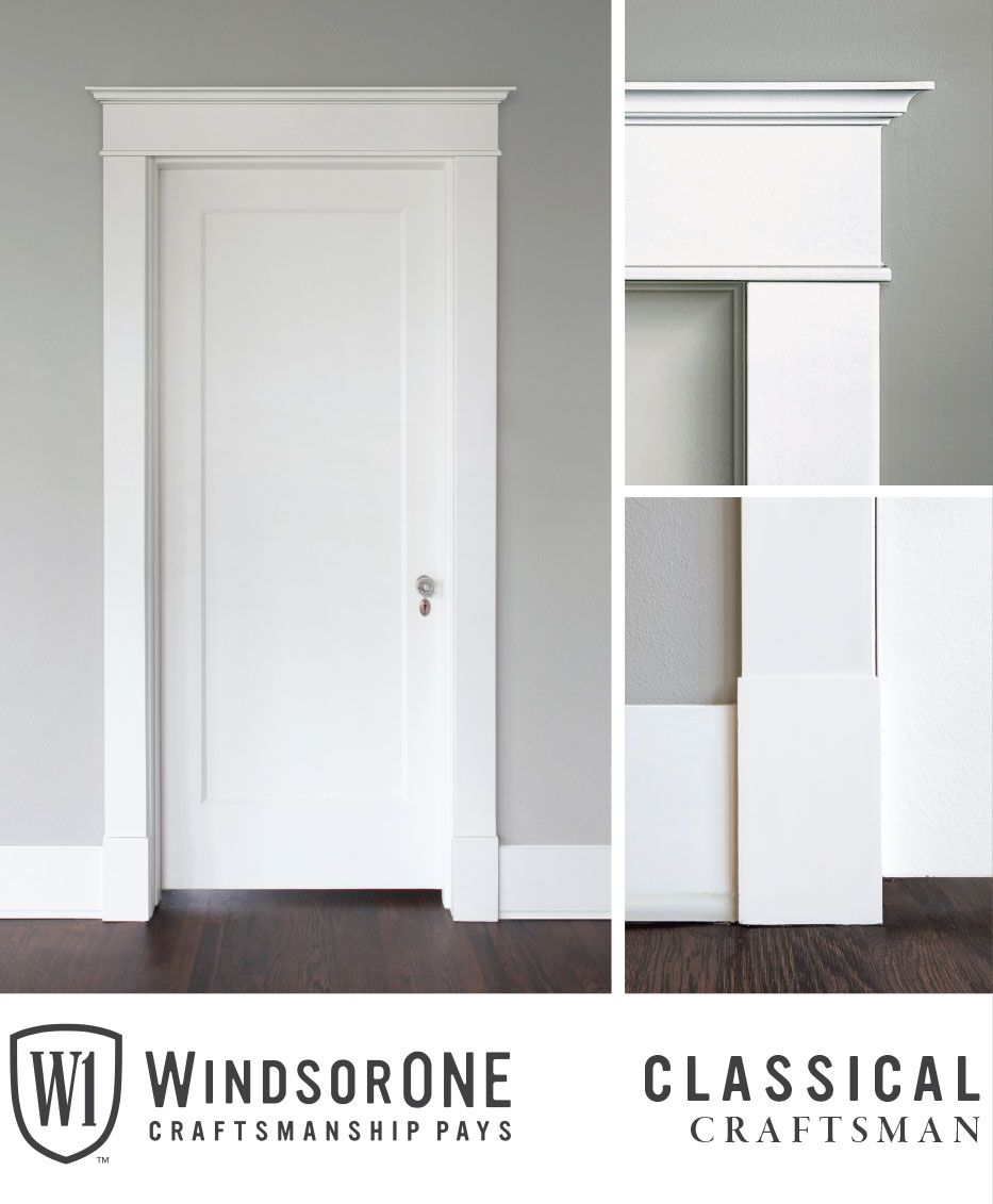 Classical Craftsman Moldings 20th Century Style Windsorone Farmhouse Interior Doors Interior Door Trim Interior Door Styles
