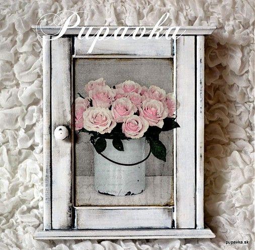 Krabičky - Vintage ruže - 2477528