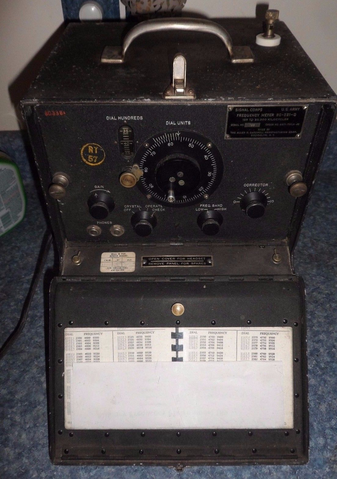 Vintage 1942 Wwii Us Army Signal Corps Frequency Meter Bc 221 Q Tube Radio Tes View More On The Link Http Zeppyio Product Gb 2 262417526318