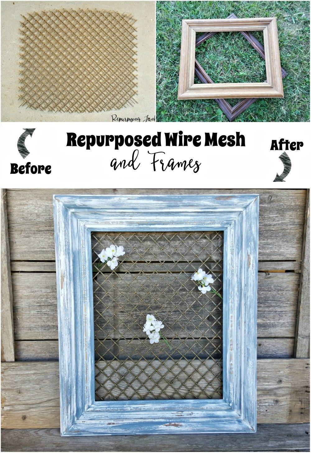 How To Repurpose Wire Mesh And Frames Cabinet