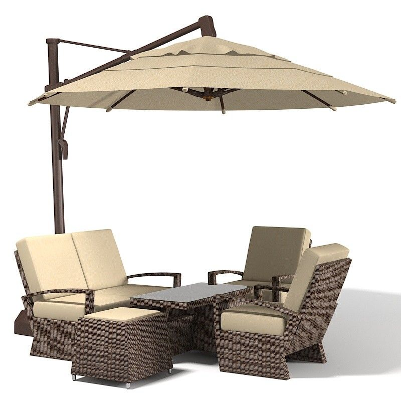 3d Coral Coast Sunbrella 3d Model Patio Furniture