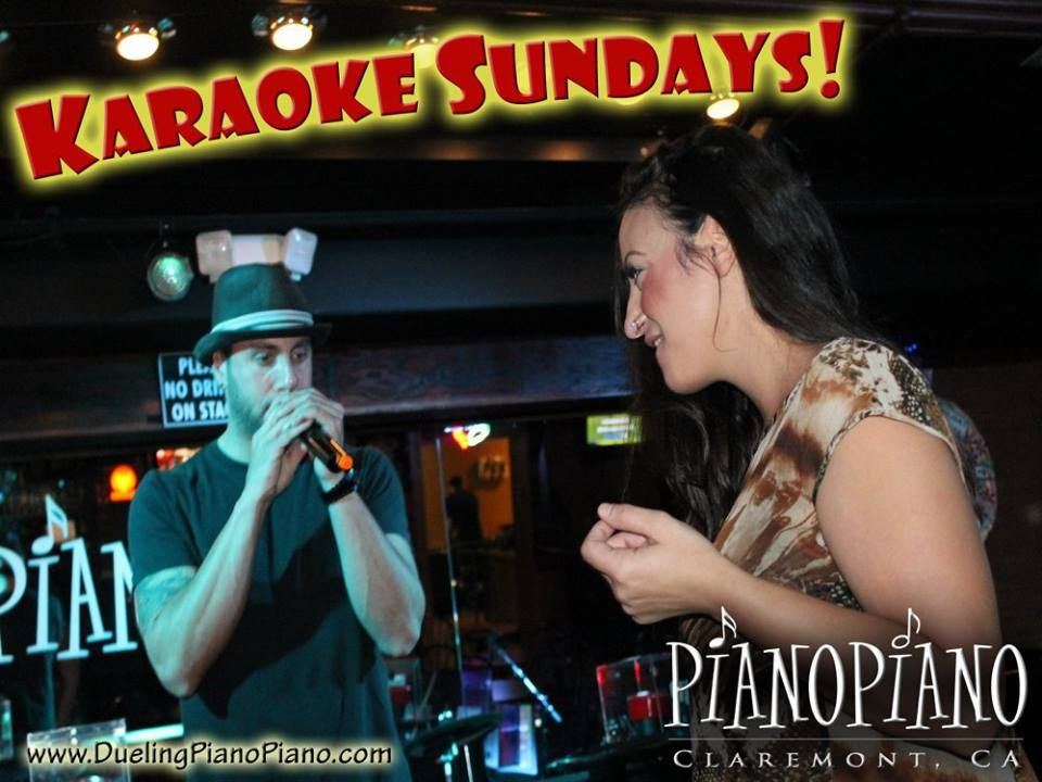 Karaoke Sundays at PianoPiano Dueling Pianos! Good times!