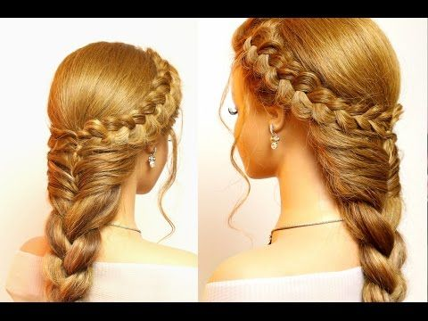 Dutch Crown Braid Simple Casual Dutch Braid Updo Hair Lengths