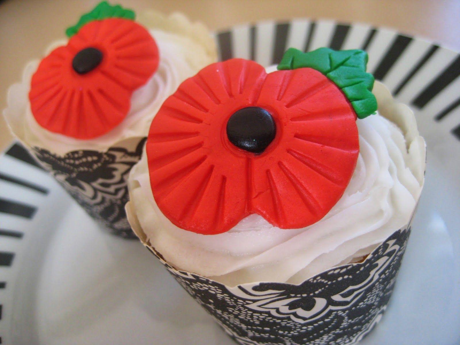 Kiwi Cakes Poppy cupcake toppers from Kiwicakes test