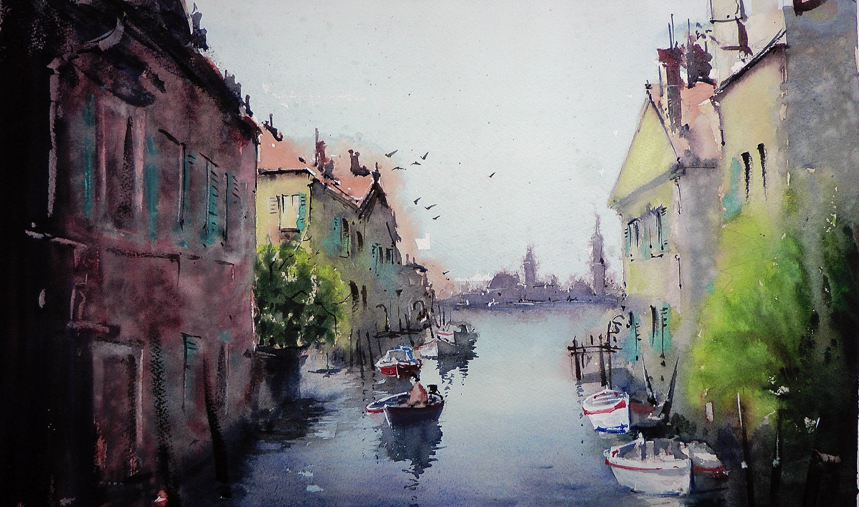 Umberto Rossini Artist Google Search Watercolor Landscape