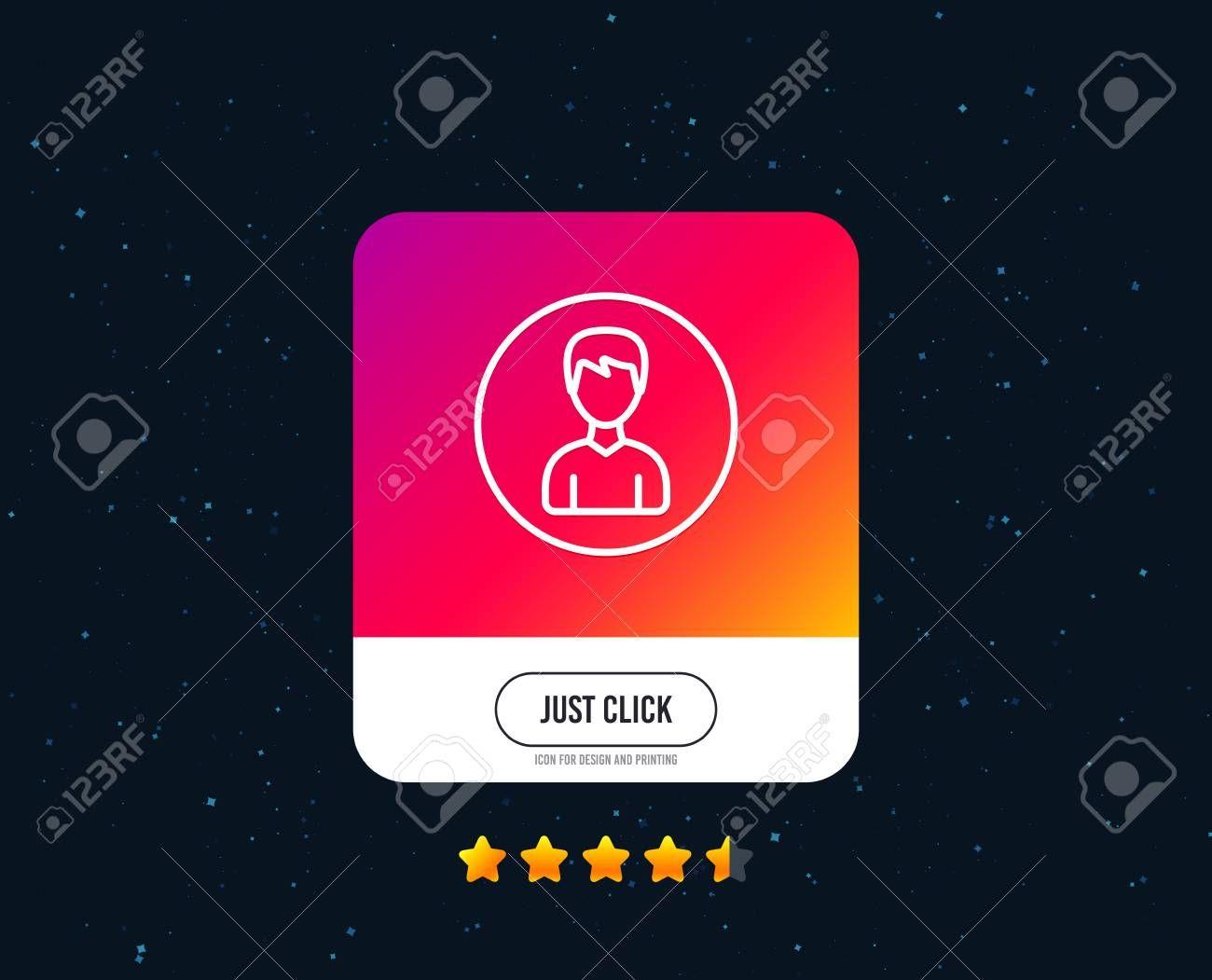 User Line Icon Profile Avatar Sign Male Person Silhouette Symbol Web Or Internet Line Icon Design Line Icon Graphic Design Portfolio Print Mockup Identity