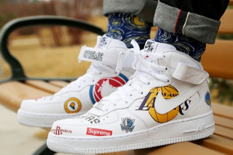 Supreme x NBA x Nike Air Force 1 Mid sneaker men's running