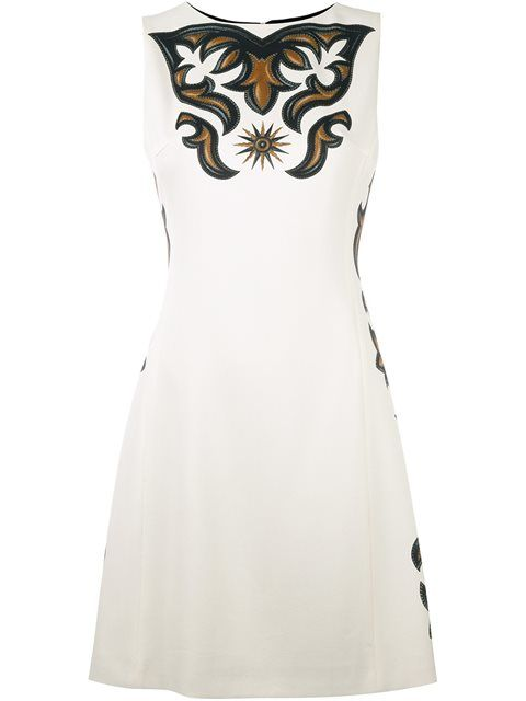 FAUSTO PUGLISI Printed A-Line Dress. #faustopuglisi #cloth #dress