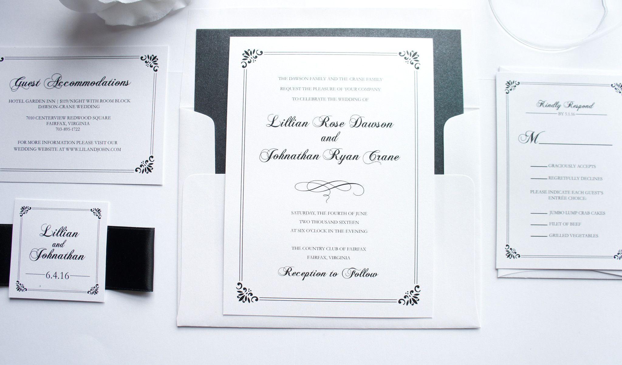 Classic Wedding Invitation - DEPOSIT   Classic weddings, Weddings ...