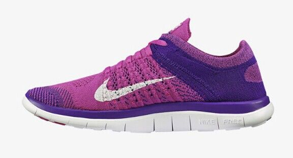 more photos bfdd3 c9609 discount 2014 Nike Free Flyknit 4.0 Womens Club Pink Court Purple Milk  White 2015 shoes
