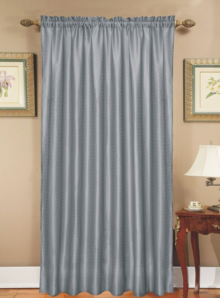 Popular window coverings  greyishsilver curtains like oursying to decide on a wall