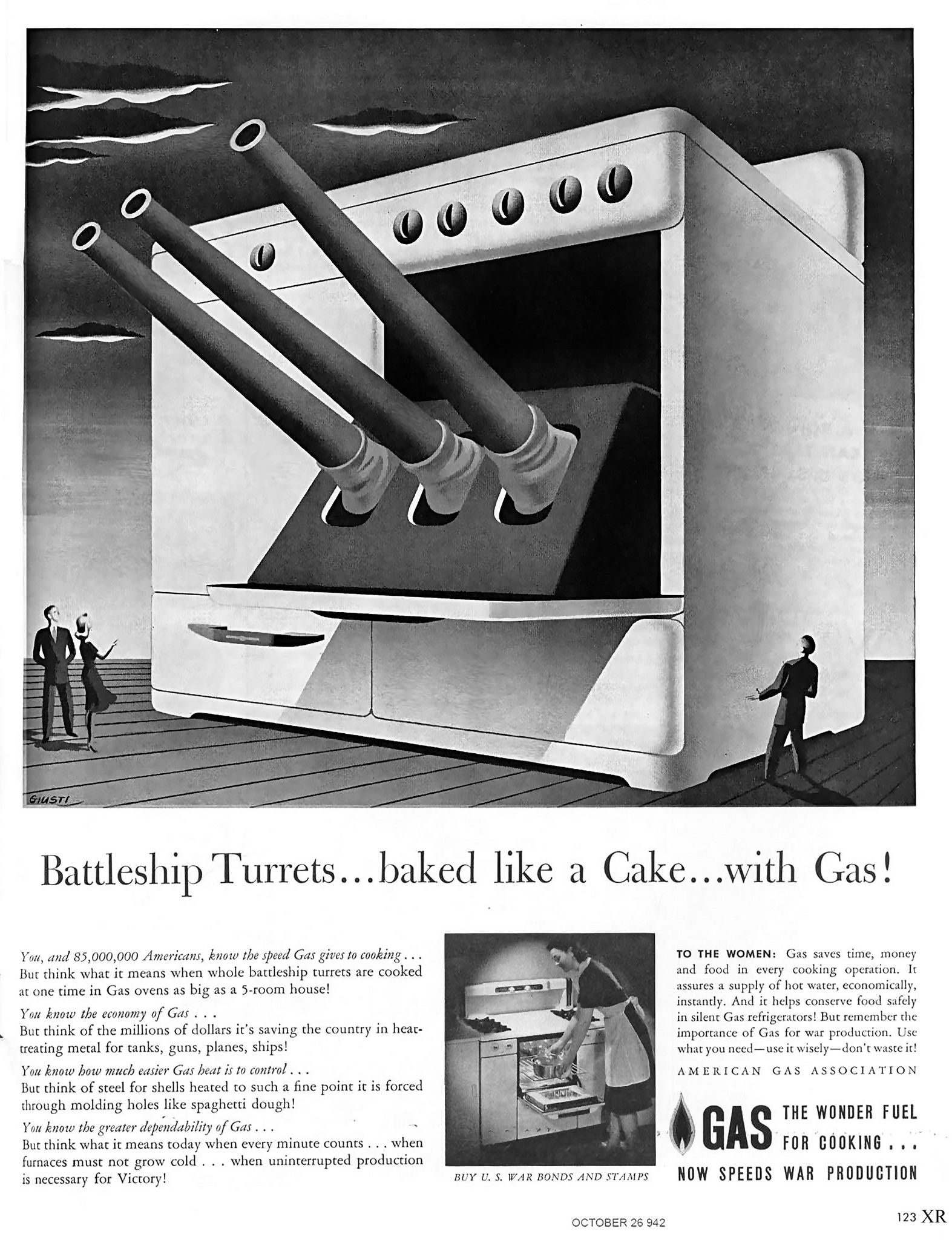https://flic.kr/p/ygxewC | 1942 ... battleship in your oven! | artist - George Giusti