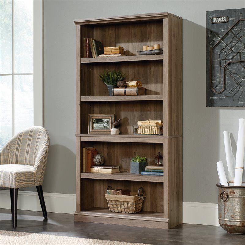 Sauder Select 5 Shelf Bookcase in Salt Oak | Sauder ...