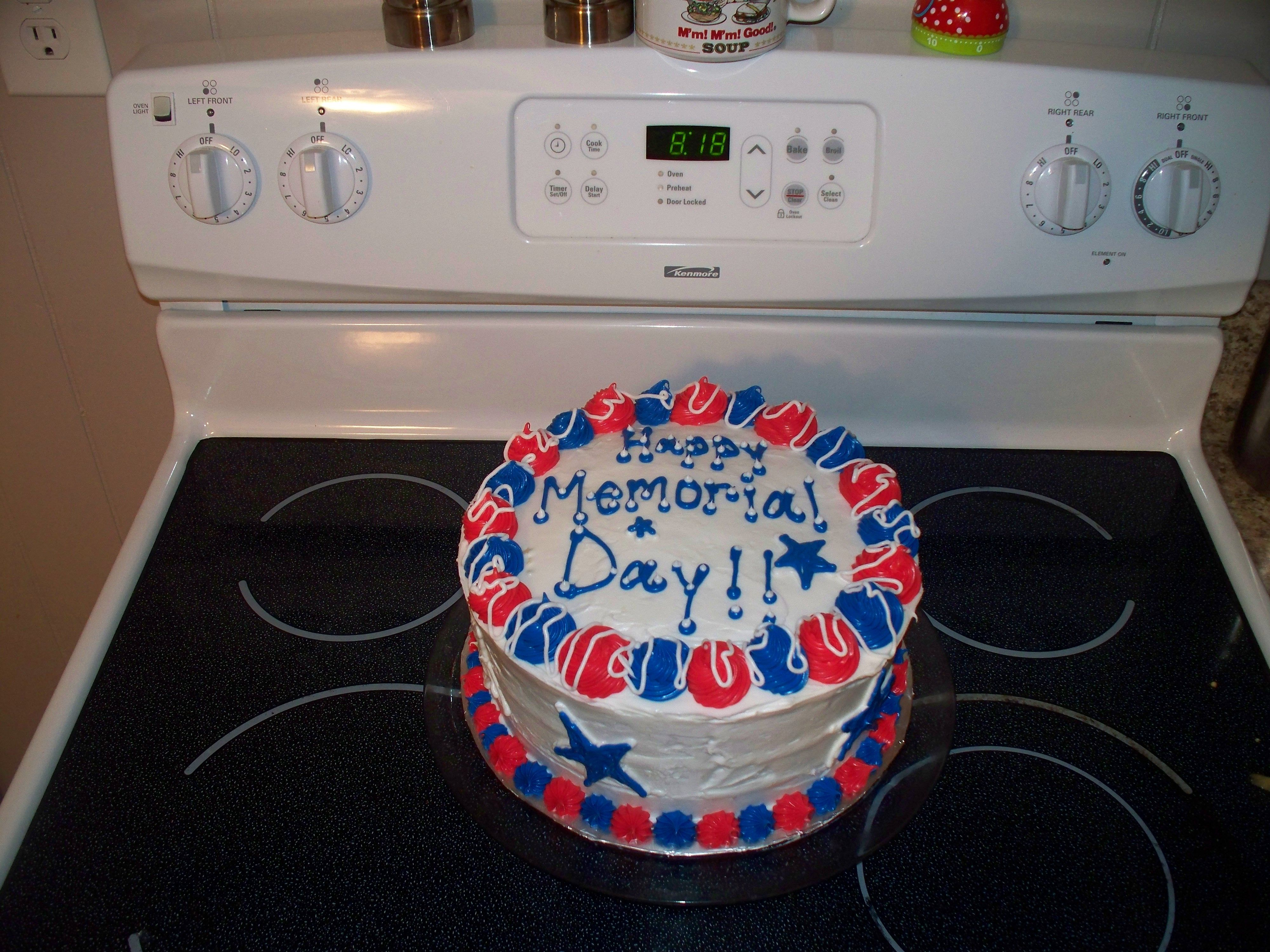 Memorial Day Cake Cake Decorating Pinterest