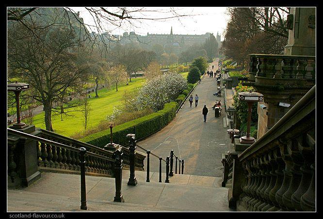 Princess Street Gardens Edinburgh Scotland | along West Princes ...