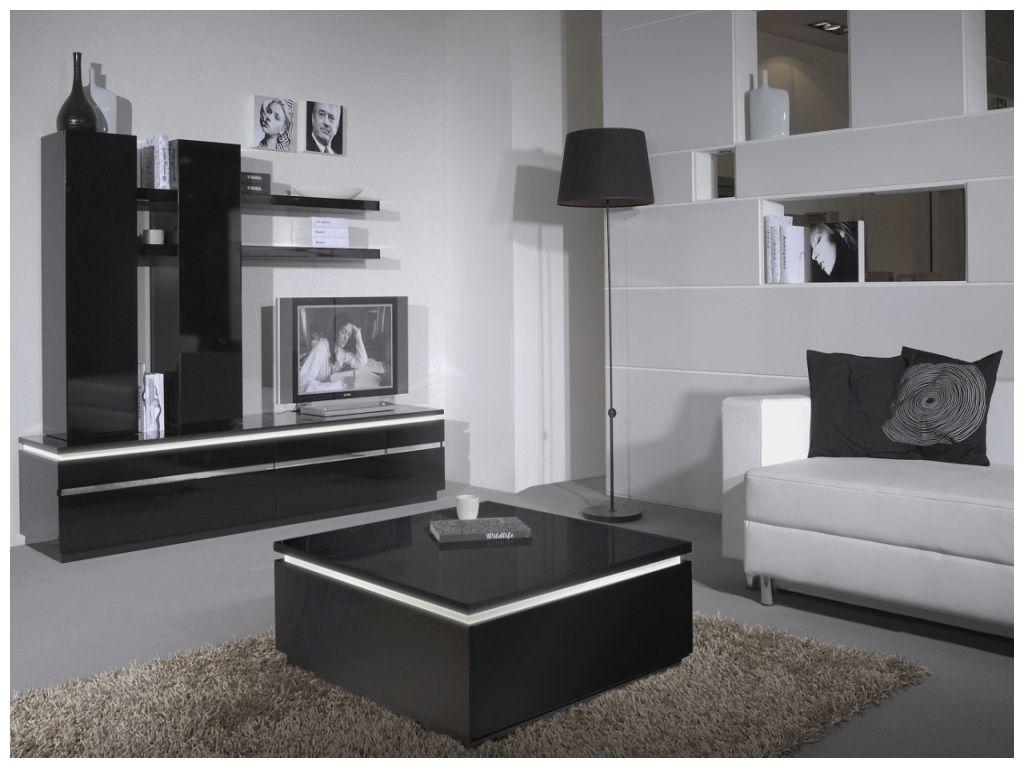Design Meuble Tv Noir Laqué