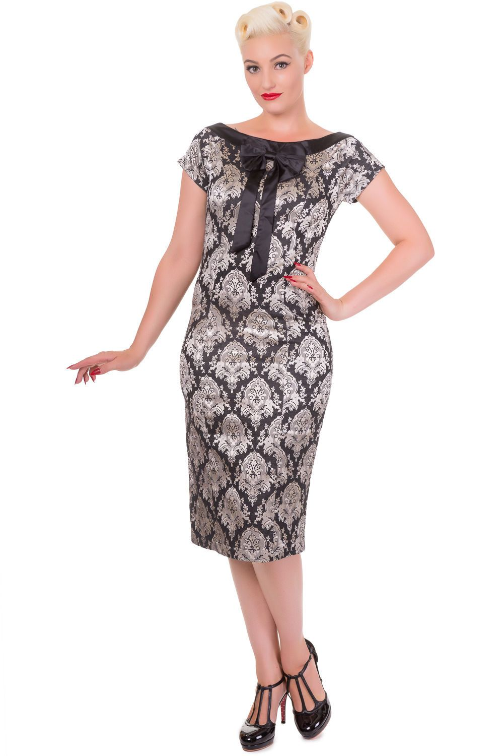 Banned limitless gothic victorian dress rockabilly pin up us bow