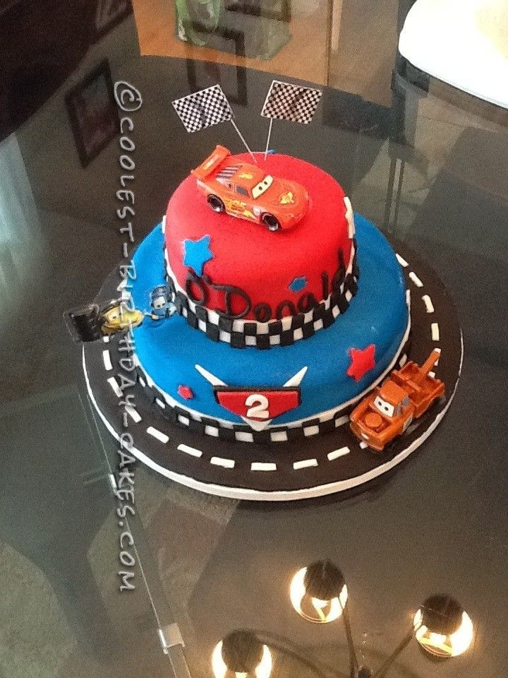 Groovy Coolest Cars 2 Cake For A 2 Year Old Boy With Images Cars Personalised Birthday Cards Cominlily Jamesorg