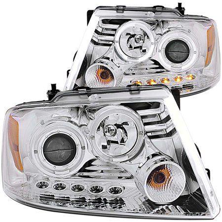 Spyder Auto 2004-2008 Ford F150 LED Halo Projector Black Headlights Set