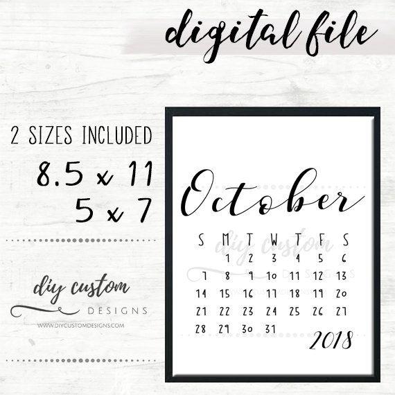 October 2018 Baby Announcement Calendar, Birth ...