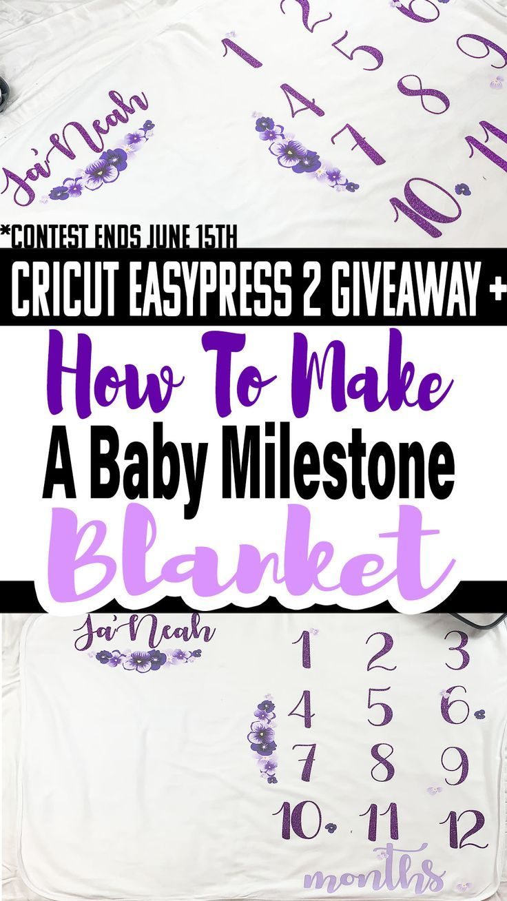 How To Make A Baby Monthly Milestone Blanket ⋆ by Pink