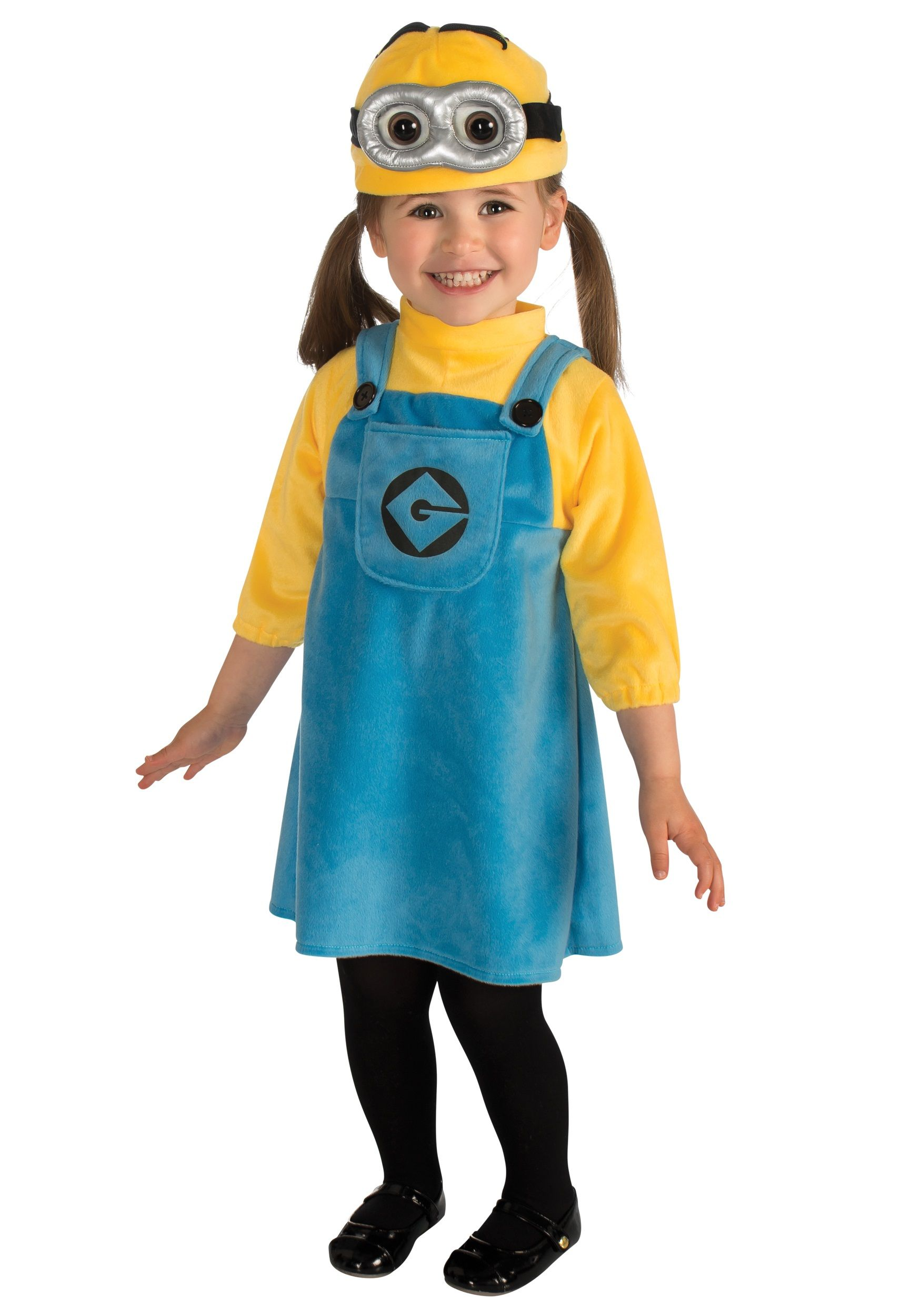 Toddler Girls Minion Costume | Girl minion costume, Girl minion ...