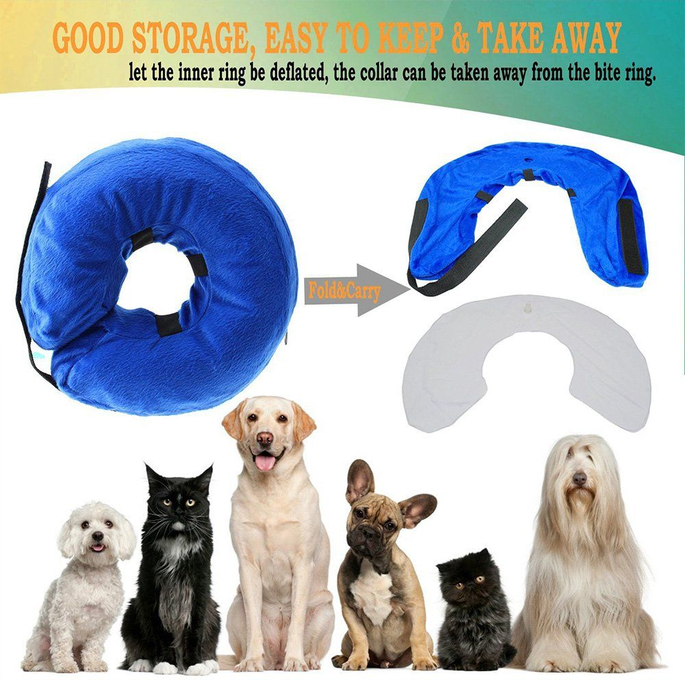 Langxian Soft Protective Inflatable Pet Collar Dog Recovery Collar For Surgery Adjustable Comfortable Pet Ecollar Inflatable Dog Collar Cat Collars Pet Collars