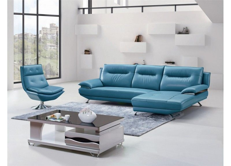 Best Jazmin 2 Seater Leather Sofa With Chaise Armchair In 400 x 300