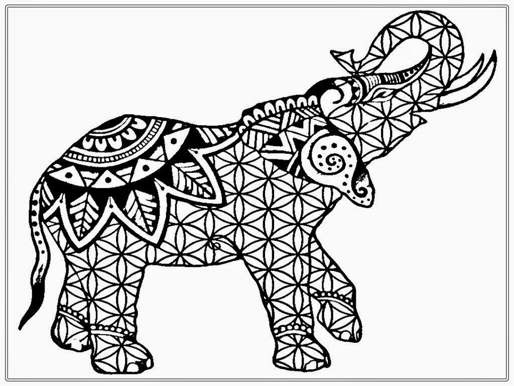 Download Elephant Coloring Pages For Adults http://procoloring.com ...