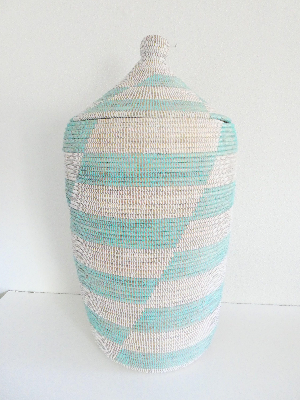 New Aqua Hamper African Laundry Basket Huge Extra Large Basket