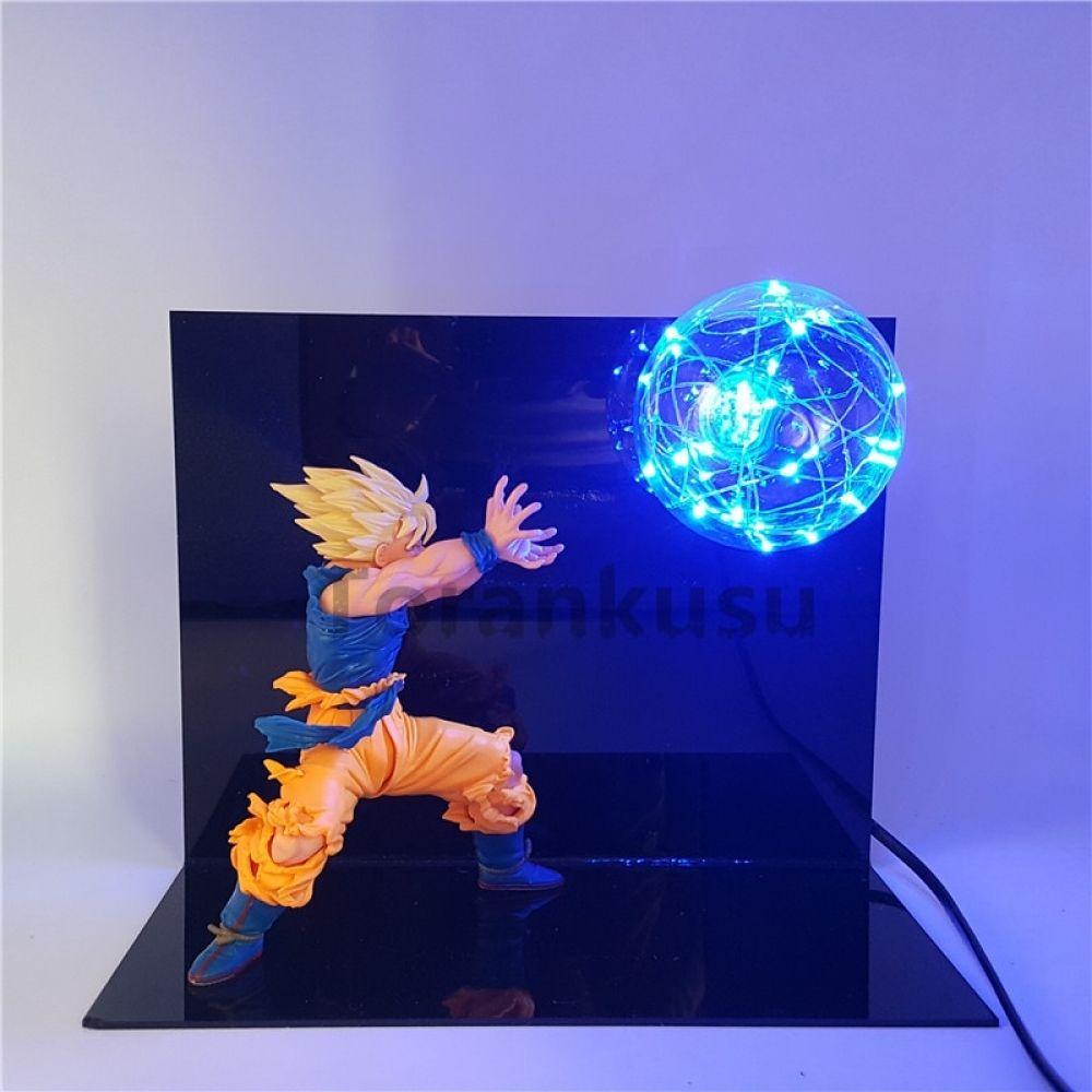 Dragon Ball Z Goku Action Figure Super Saiyan Kamehameha Led Light Anime Dragon Ball Z Figurine Model Toy Son En 2020 Figuras De Goku Figuras De Dragones Lampara Goku