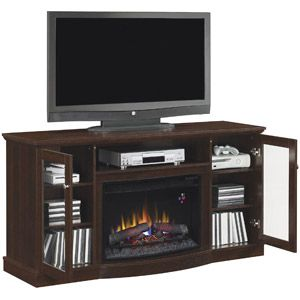 Chimneyfree Media Electric Fireplace For Tvs Up To 65 Brown Espresso Walmart Com Media Electric Fireplace Tv Stand Wood Tv Stand And Entertainment Center