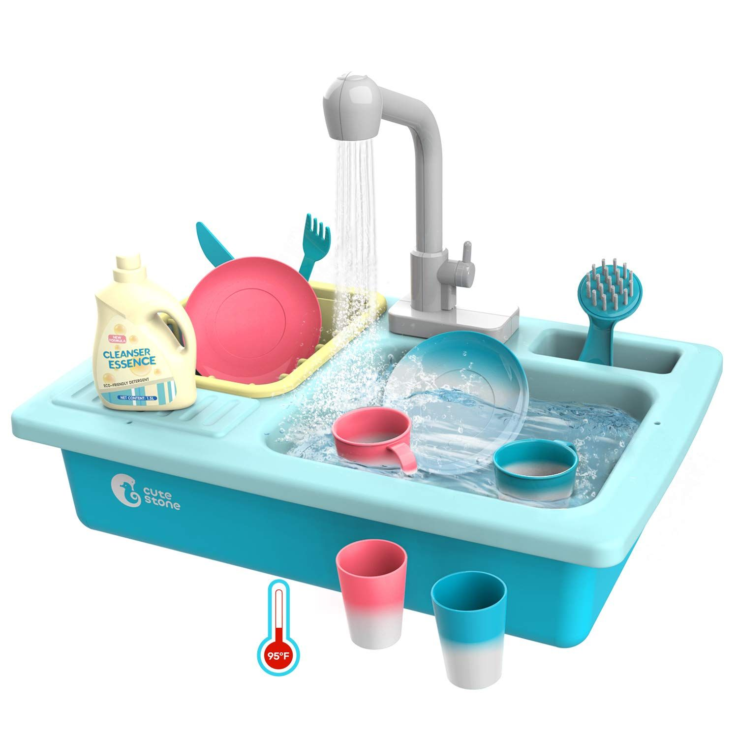 Free 2 Day Shipping Buy Color Changing Kitchen Sink Toys Children Playing Toy Dishwasher With Running Water Heat Play House Pretend Play Kitchen Play Kitchen