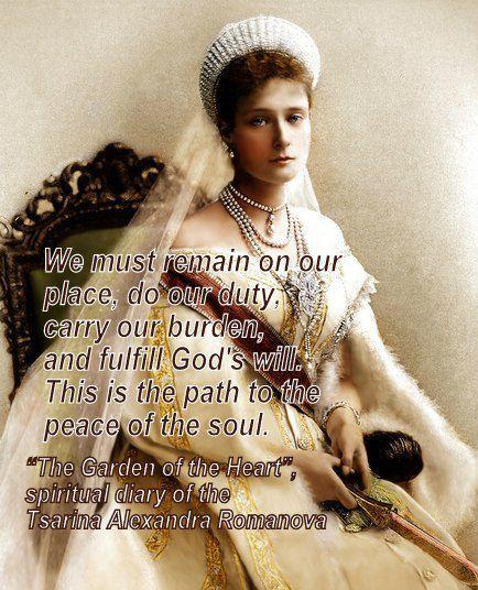 Words of Tsarina Alexandra Rominova