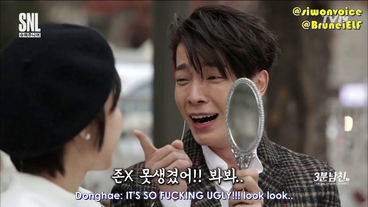 ENGSUB] 171111 tvN SNL9 with Super Junior - 3 minute boyfriend