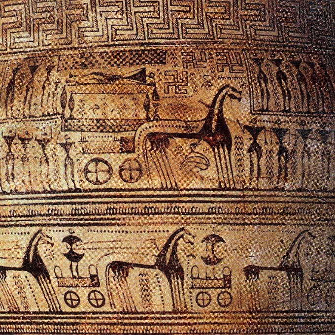arte greca cratere -particolare