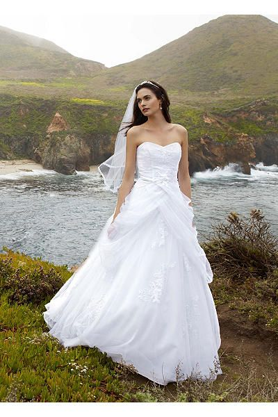 Tulle Ball Gown With Lace Up Back And Side Swags AI10012163 David Bridal