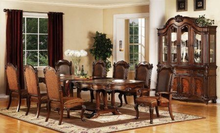 Cherry Dispatch Formal Dining Room Table Chairs Furniture Set