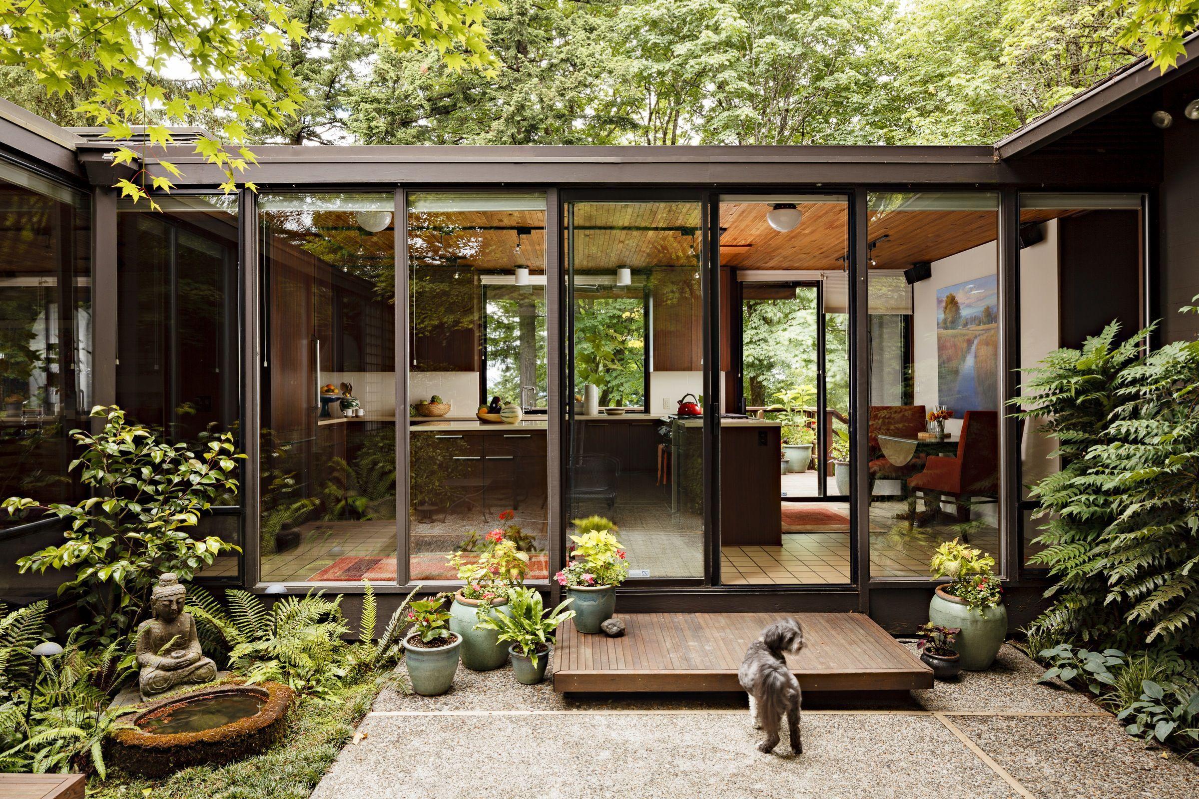 Japanese Garden Mid Century Modern Kiến Truc