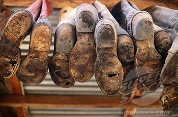 SuperStock - Worn Soles of Cowboy Boots | Boots & Shoes & Gloves ...