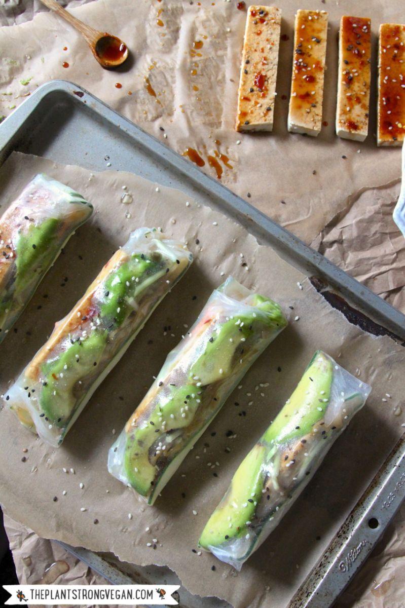 Crispy Baked Spring Rolls Recipe Finding Vegan Bloggers