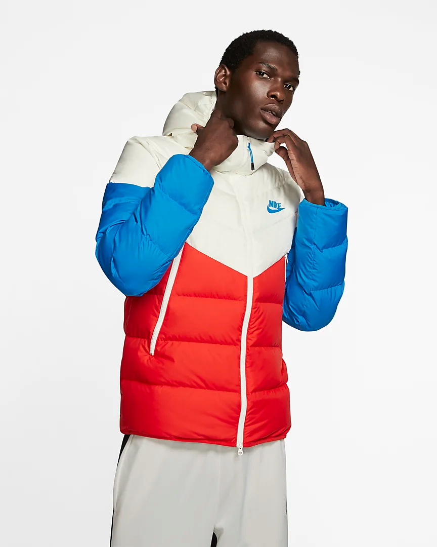 Nike Sportswear Windrunner Down Fill Hooded Puffer Jacket Nike Com Nike Windrunner Nike Clothes Mens Hooded Jacket Men [ 1080 x 864 Pixel ]